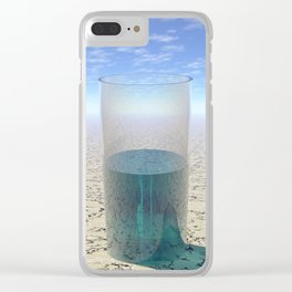 Glass of Water Clear iPhone Case