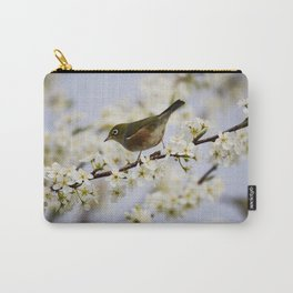 A Bird Perching on a Twig Carry-All Pouch