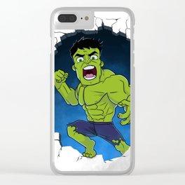 Chibi Hulk Smash! Clear iPhone Case