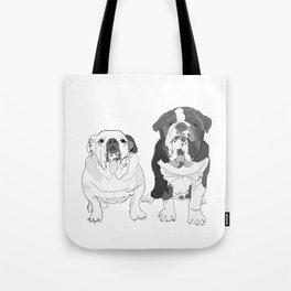 English Bulldog Brothers Tote Bag