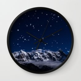 At the roof of the world Wall Clock