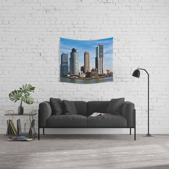 Skyline of Rotterdam Wall Tapestry