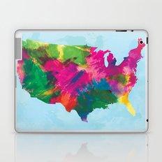 Watercolor U.S.A. Map Laptop & iPad Skin