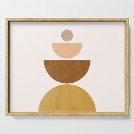 Moons | Mid Century Abstract Serving Tray