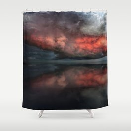 Red cloud reflect Shower Curtain
