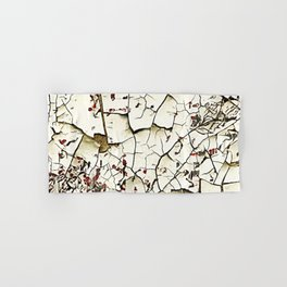 Cracked Paint White Textured Abstract Hand & Bath Towel