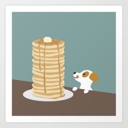 Hungry Dog  Art Print