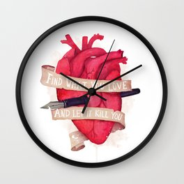 Find What You Love Wall Clock