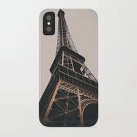 eiffel tower iPhone & iPod Cases featuring Eiffel Tower by Christine Workman
