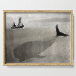 Whale and a boat Serving Tray