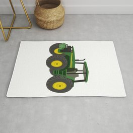 Green Farm Tractor Rug