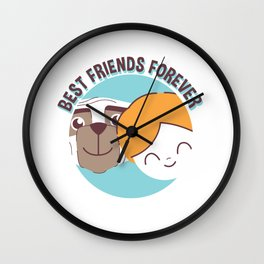 Best Friends Forever Kid and Dog Wall Clock