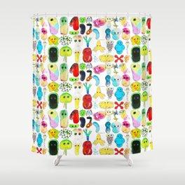 Rainbow Microbes Shower Curtain