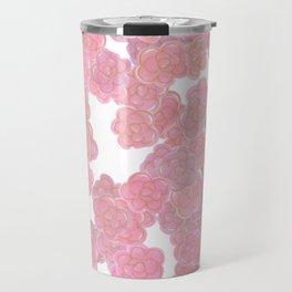 Blush Pink & Gold Florals Travel Mug