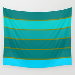 Teal Stripes Wall Tapestry