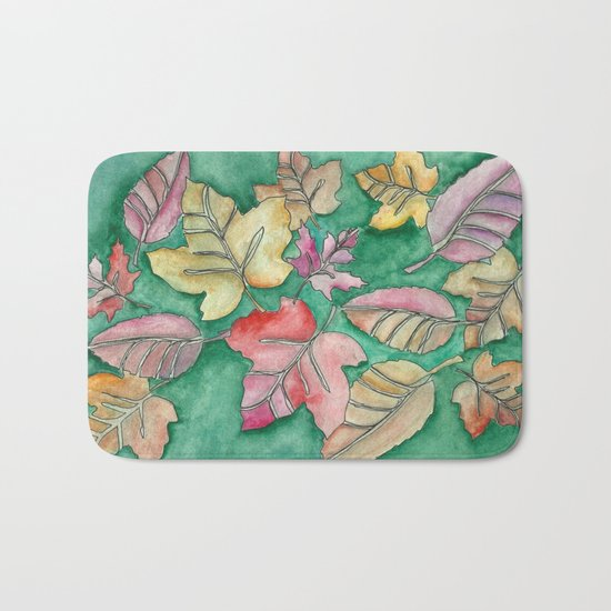 Fall Leaves Fall Bath Mat