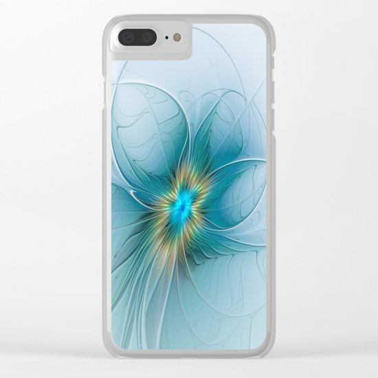 The little Beauty, Abstract Fractal Art Clear iPhone Case