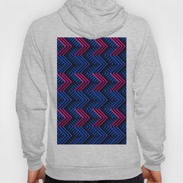 Neon op art striped arrows forward Hoody