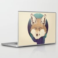 jon snow Laptop & iPad Skins featuring Fox by Laura Graves