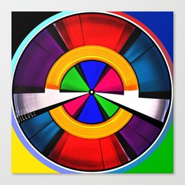 Test Pattern Clock Canvas Print