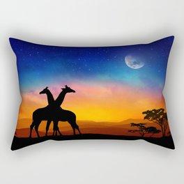 Giraffes Can Dance Rectangular Pillow
