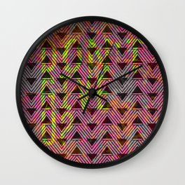 Don't Give Up Quote with Geometric Triangle Pattern Wall Clock