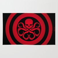 hydra Area & Throw Rugs featuring Hail Hydra #1 by Alberto Lamote de Grignon