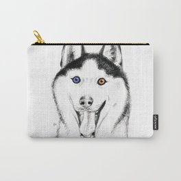 Smiling Husky Carry-All Pouch