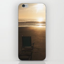 Beach Chair at Sunrise iPhone Skin