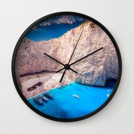 Shipwreck bay Wall Clock