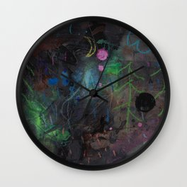 Midnight  Garden cycle23 2 Wall Clock