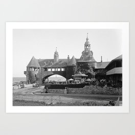 1890 Narragansett Towers & Casino, Narragansett, Rhode Island Art Print