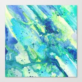 Caribbean Blues Abstract Canvas Print
