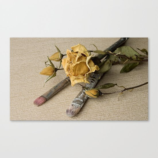 Dried flower Canvas Print