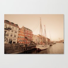 By the Nyhavn Canvas Print