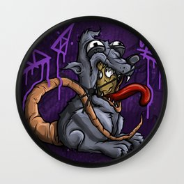 Ronnie The Rat 2 Royal Stain Wall Clock