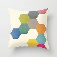 Honeycomb I Throw Pillow