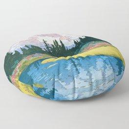 12,000pixel-500dpi - Yoshida Hiroshi - Mt.rainier - Digital Remastered Edition Floor Pillow