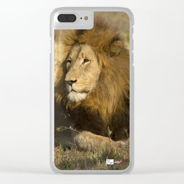 CW-002 Male Lion Clear iPhone Case