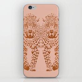 Sunset Blvd Leopard - blush pink and coral original print by Kristen Baker iPhone Skin