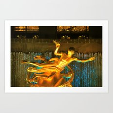 RockCenter Ambient Blue Art Print