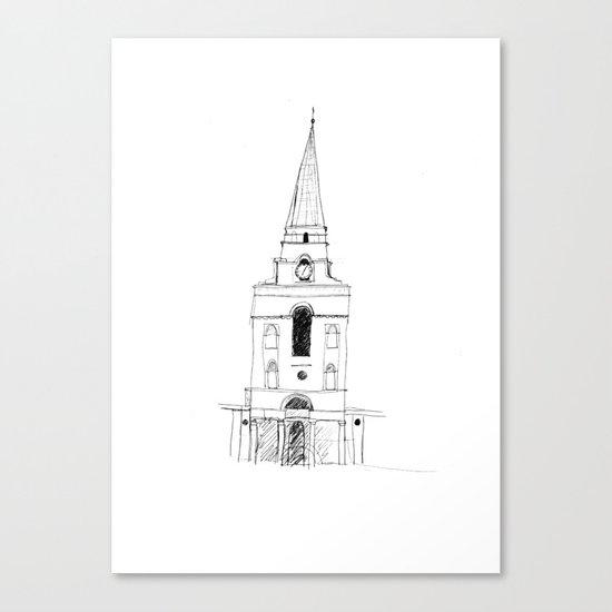 Spitalfields Church, London Canvas Print
