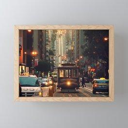 Cable car - San Francisco, CA Framed Mini Art Print