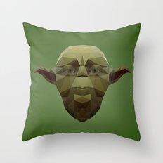 Yoda Low Poly Throw Pillow