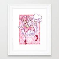 madoka magica Framed Art Prints featuring Madoka by Alyssa Tye