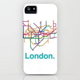 London Transit Map iPhone Case
