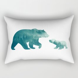 Bears Forest Rectangular Pillow