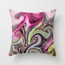 Art Pink Throw Pillow