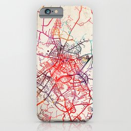 Harrisonburg map Virginia VA iPhone Case