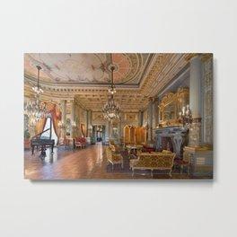 Newport Mansions, Rhode Island - The Breakers Music Room by Jeanpaul Ferro Metal Print